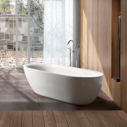 Ванна акриловая Vincea VBT-103, 1800*840*540, цвет белый, слив-перелив в комплекте, хром