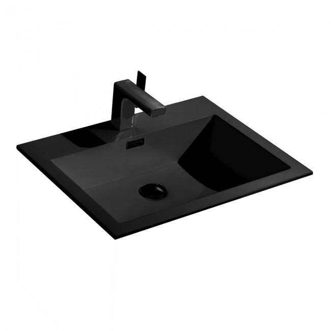 Раковина VCB-13600B из искусственного камня, цвет черный