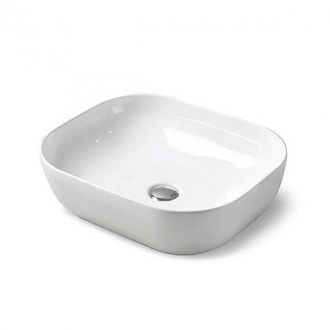 Раковина керамическая Vincea VBS-101, 500*400*140, накладная, цвет белый