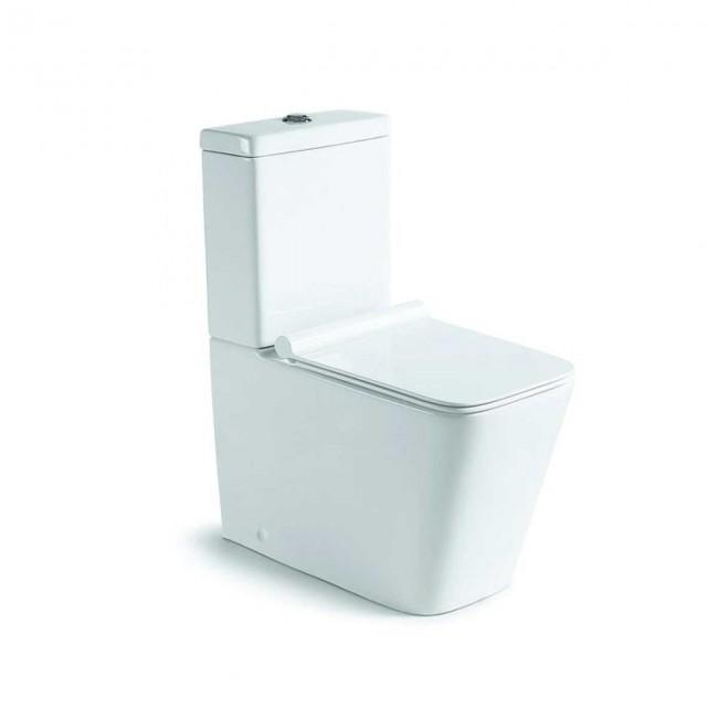 Унитаз-компакт Q-Line VT2-12,  цвет белый, Geberit, ультратонкое сиденье soft-close, P-trap